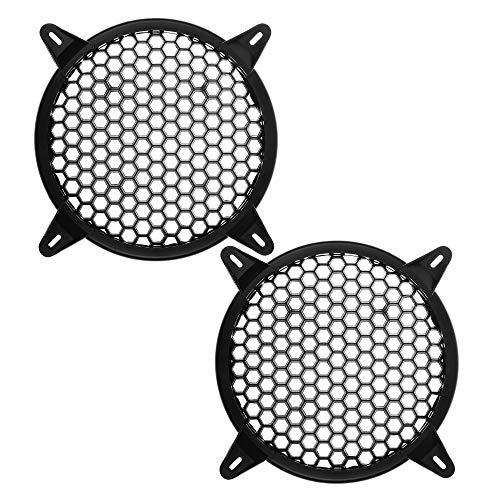 Bluecell 2pcs Plastic Auto Speaker Parts Car Audio Grill Cover Guard Protector Sub-Woofer Grille