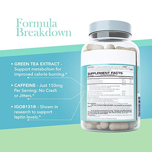 Femme Forme Kindle Fat Burner for Women: Top Rated Diet Pills and Weight Loss for Women Supplement, Formulated with Green Tea Extract (EGCG) to Boost Metabolism and Burn Body Fat, 120 Capsules 4