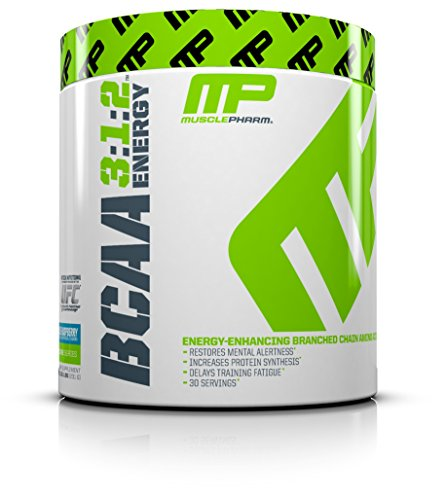 Muscle Pharm BCAA Energy Powder, Blue Raspberry, 0.51 Pound