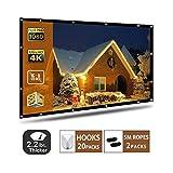 AYAOQIANG Écran de Projection, 4K HD 16: 9 écran 120 Pouces...