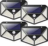 nuosife Solaire Extérieur, Applique Murale Extérieure, Lumière Solaire Extérieure, 100 LED, 3 Modes de Fonctionnement, Eclairage à 270 °, sans Fils,...