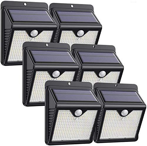 Luce Solare Led Esterno, 6 Pezzi-1000lumeniPosible 150 LED Lampada Solare da Esterno Luce Led Esterno Solare con Sensore di Movimento Luci Esterno Energia Solare IP65 Luci Solari per Giardino