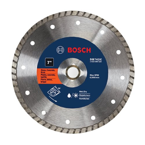 BOSCH DB742C 7-Inch Premium Turbo Rim Diamond Blade