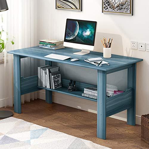Wood Desk,Home Office Computer Desk with Storage Shelf,Modern Simple...