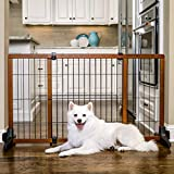 Carlson Extra Tall 60-Inch Wide Adjustable Freestanding Pet Gate, Premium Wood