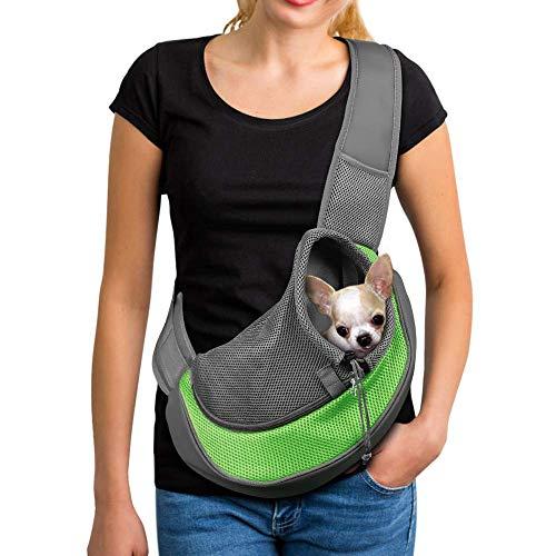 PETEMOO Tragbar Haustier Hunde Katzen Welpen Umhängetasche Reise Träger Schulter Beutel Atmungsaktiv Mesh Transporttasche