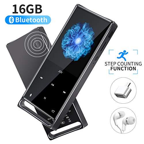 Mymahdi MP3 Player, bluetooth da 16 GB senza perdita, radio FM/passo/record con una chiave, massimo...