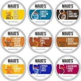 Maud's Decaf Coffee Variety Pack, 80ct. (9 Flavors/Blends) Recyclable Single Serve Decaf Coffee Pods - 100% Arabica Coffee California Roasted, Keurig Decaf KCups Variety Pack Compatible Including 2.0
