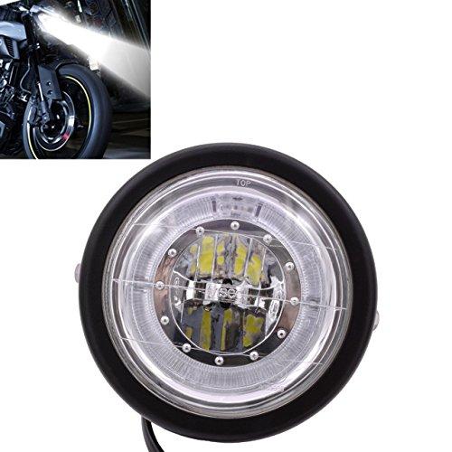 KaTur Motorrad Scheinwerfer LED Scheinwerfer 6 1/5,1 cm für K awasaki H Arley H onda S uzuki Y amaha W/Halterung Blau Angel Eye Custom