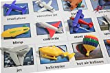 Curious Minds Busy Bags Aircraft Vehicles to Matching Cards - Match Airplane, Jets and Other Aircraft Miniatures to Photos