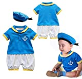 StylesILove Baby Boy Donald Duck Inspired Costume Romper and Hat 2pcs Outfit (95/18-24 Months) Blue