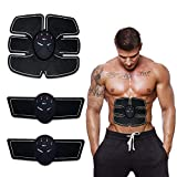 KESHAV Body Mobile-Gym 6 Pack EMS Tummy Flatter, Weight Loss Muscle Toning/Fitness Technology Kit 6 Pack Abs, Wireless Electro Pad Portable Gym Trainer for Men/Women