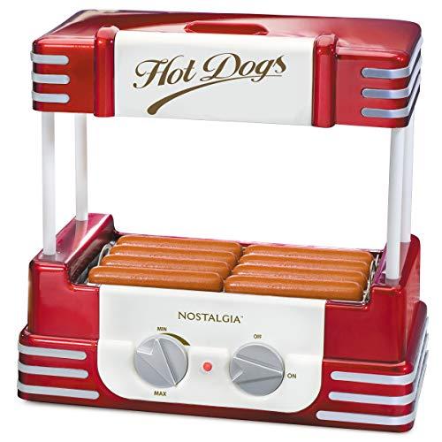 Nostalgia RHD800 Hot Dog Roller and Bun Warmer, 8 Hot Dog...