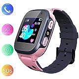 Jslai Smartwatch Kids Étanche avec Tracker LBS/GPS, Téléphone...