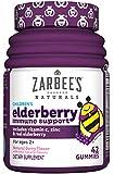 Zarbee's Naturals Children's Elderberry Immune Support with Vitamin C & Zinc, Natural Berry Flavor, 42 Gummies