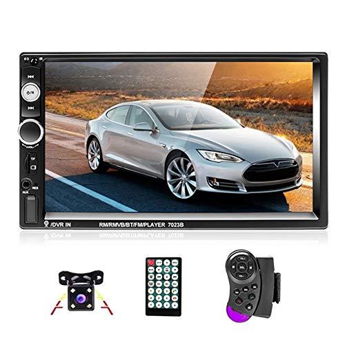 Podofo Autoradio 2 Din 7'' Bluetooth Auto Radio Écran Tactile Lecteur Téléphone Android Miroir Lien FM Autoradio AUX TF/SD USB + Caméra de Recul