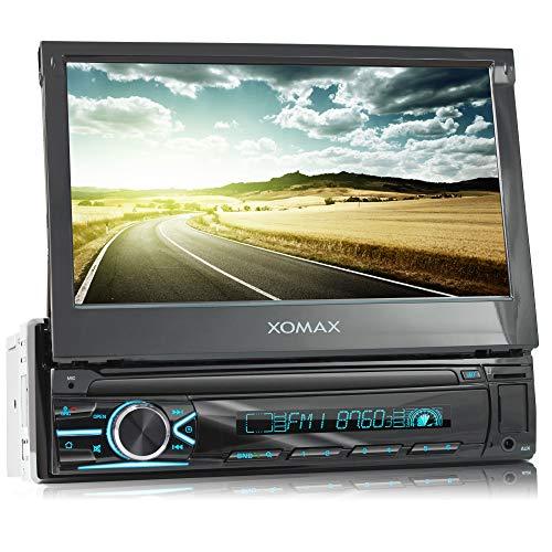 XOMAX XM-V746 Autoradio mit Mirrorlink I 7 Zoll / 18 cm Touchscreen I...