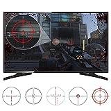 eXtremeRate Autocollants FastScope No Scope TV Decal pour FPS Jeux sur PS4 PS3 Xbox One Xbox 360 PC (10 Pcs 2 Modèles 5Taille)