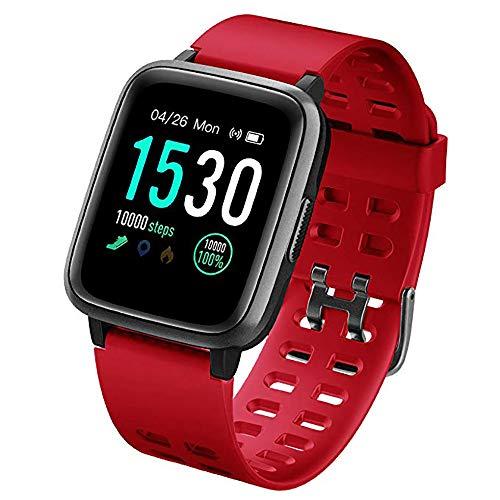 LZZ Smartwatch, Fitness Armband Wasserdicht IP68 Fitness Tracker mit Pulsmesser 1,3 Zoll Farbbildschirm Aktivitätstracker Fitness Uhr Schlafmonitor Schrittzähler Stoppuhr Anruf SNS für Android iOS
