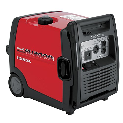 Honda Power Equipment EU3000IH1A Handi 3,000W Portable Generator with Parallel Capability CARB, Steel