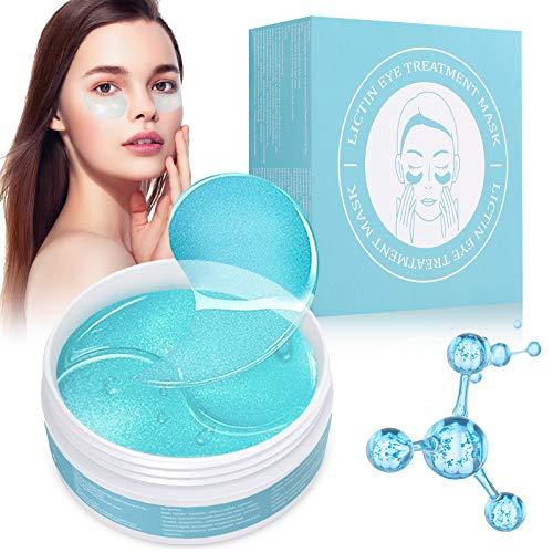Lictin Masque Yeux Collagène - 60pcs Collagen Eye Mask Patch Yeux, Anti-âge Hydrogel Eye Patch pour Anti Les Cernes, Les Ridules, Les Yeux Gonflés
