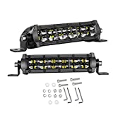 LED Light Bar 6 Inch, Swatow Industries 2PCS 96W Slim Dual Row Spot Flood Combo LED Pods Off Road LED Driving Lights for Truck Offroad SUV UTV ATV Boat