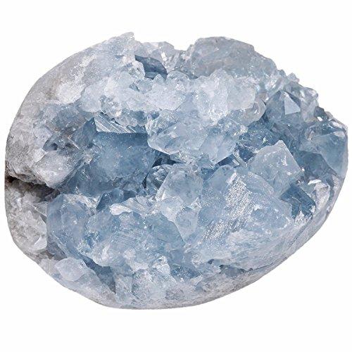 Rockcloud Natural Raw Blue Celestite Mineral Healing Crystal...