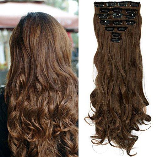 S-noilite® 17' (43 cm) extensiones de cabello cabeza completa clip en extensiones de pelo...