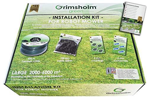 Grimsholm Green - Kit d'installation M pour tondeuse robot (200 m ou 500 m)