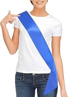 Blank Satin Sash, Plain Sash, Party Decorations, Make Your Own Sash (Royal Blue)