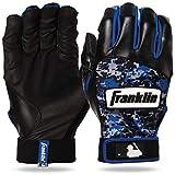 Franklin Sports MLB Digitek Baseball Batting Gloves - Gray/Black/Royal Digi - Youth Medium
