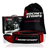 Rocket Straps - 3' x 30' Heavy Duty Tow Strap | 30,000 LBS Rated Capacity Recovery Strap | Vehicle Tow Straps with Protected Loop Ends | Emergency Off Road Truck Accessories Towing Rope | Storage Bag