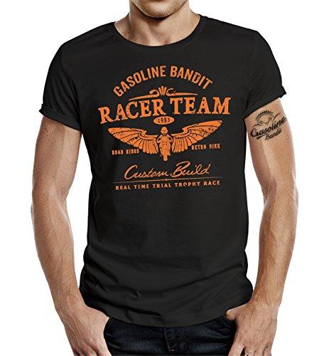GASOLINE BANDIT® Biker T-Shirt: Racer Team-L