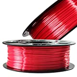 Silk Red PLA Satin Shiny 3D Printer Filament, 1.75mm Diameter 1kg Spool 2.2lbs Widely Support FDM 3D Printers, with Extra One Bag Filament Sample Gift DO3D