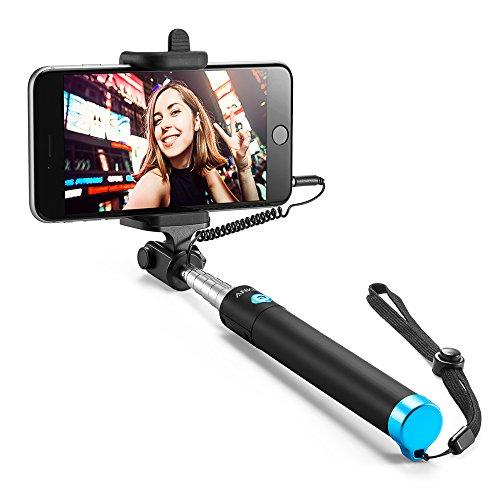 Anker Selfie Stick Verstellbare Selfie Stange, ohne Akku, mit Kabel, für iPhone SE/6s/6/6 Plus,Samsung Galaxy S7/S6/Edge,Nexus 6P und viele mehr (Nicht kompatibel mit iPhone 7/7 Plus/8/8 Plus/X)