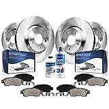 Detroit Axle - All (4) Front and Rear Disc Brake Kit Rotors w/Ceramic Pads w/Hardware & Brake Kit Cleaner for 12-15 Chevy Captiva Sport - [07-09 Equinox/Pontiac Torrent/Suzuki XL-7] - 08-10 Saturn Vue