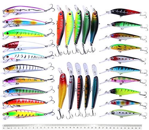 Fishing Lures Set Large Hard Bait Minnow Lure with Treble Hook Swimbait Fishing Bait Sinking Lure...
