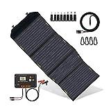 ECO-WORTHY 120W Panneau solaire pliable avec contrôleur de charge, chargeur solaire portable avec...