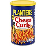 Planters Snack Puffs Cheese Curls (4oz Canisters, Pack of 12)