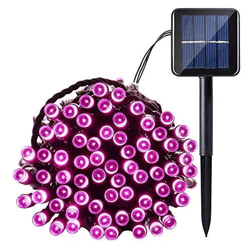 Joomer-Solar-Christmas-Lights-39ft-100-LED-8-Modes-Solar-String-Lights-Waterproof-Solar-Fairy-Lights-for-Garden-Patio-Fence-Balcony-Outdoors-Pink