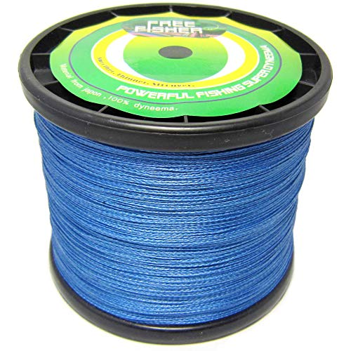 FREE FISHER Braided Fishing Line,4 Strands PE Strong Line, Abrasion Resistant Braid Lines,Saltwater...