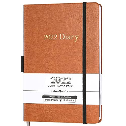 Agenda 2021-2022 - Planificador Diario de Productividad de Enero Julio de 2021 a junio de 2022, con Pestañas Mensuales, Bolsillo Interior, con Banda, 14,3 x 21 cm