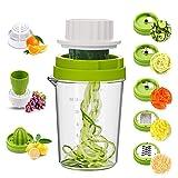 MENNYO Coupe Légumes Spirale 8 en 1, Spiraliseur de Légumes...