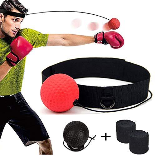 DYBOHF Reflex Boxing Ball, Palla Boxe riflessi, Migliorare Le reazioni di velocità e la coordinazione Occhio Mano,...