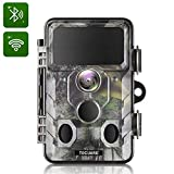 TOGUARD Upgraded Wildlife Camera WiFi Bluetooth 20MP 1296P Hunting Trail Camera with 120° Monitoring Angle with Motion Activated Night Infrared Vision Waterproof Outdoor Scouting Game Camera