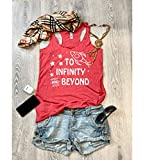 XSmall/Vintage Red/Disney Tank/Infinity And Beyond/Toy Story/Women's Eco Tri-Blend Tanks/Women Clothing/Disney Tank Top/Disney Gift Triblend Tank/Gift Shirt/Free Shipping/