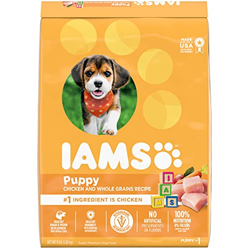 IAMS PROACTIVE HEALTH Smart Puppy Dry Dog Food with Real Chicken, 15 lb. Bag