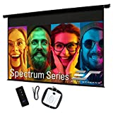 Elite Screens 84' Spectrum Electric Motorized Projector Screen with Multi Aspect Ratio Function Diag 16:9 to 80-inch Diag 2.35:1, Home Theater 8K/4K Ultra HD Ready Projection