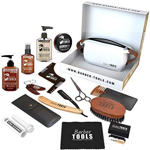 BARBER TOOLS  Kit / Set / Cofanetto per la cura e manutenzione della barba e radersi | Cosmetici Made in Francia