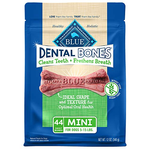 Blue Buffalo Dental Bones Mini Natural Dental Chew...
